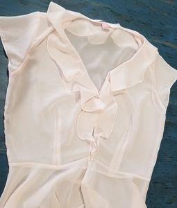Victoria's Secret sheer blush pink blouse sz M
